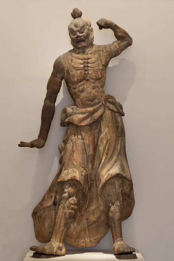 guardian. Japan.  Kamakura period, 1185-1333.  Wood (Cryptomeria japonica)