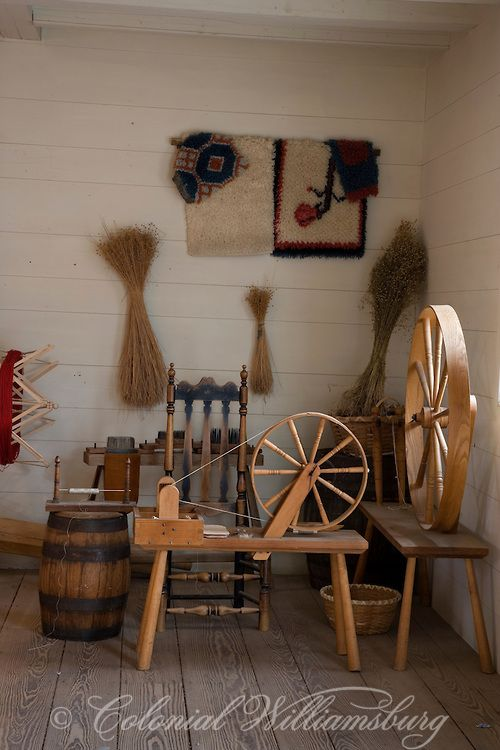 Spinning wheels and other tools and finished products at for Williamsburg craft house catalog
