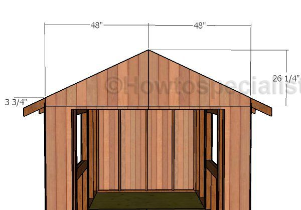 8x12 Gable Shed Roof Plans Howtospecialist How To Build Step By Step Diy Plans Roof Plan Shed Roof Shed