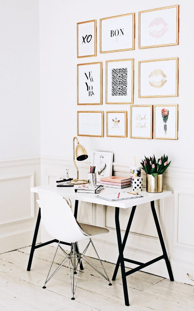 Insta And Pinterest Amy Chic Office Desk Interior Office Modern Office Design Ideas For Sma Feminine Home Offices Home Office Decor Home Office Space