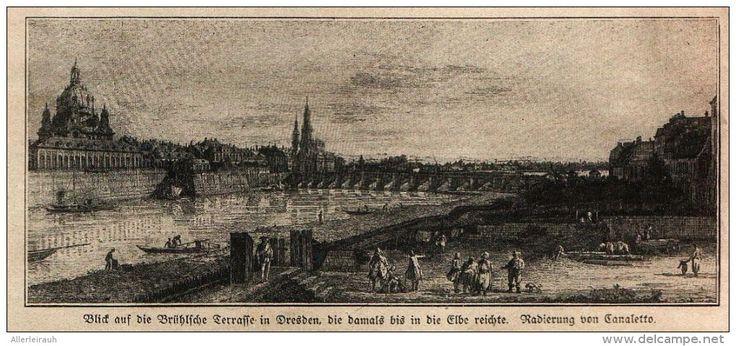 Blick auf die Brühlsche Terrasse in Dresden (Canaletto)  -  Druck , entnommen…