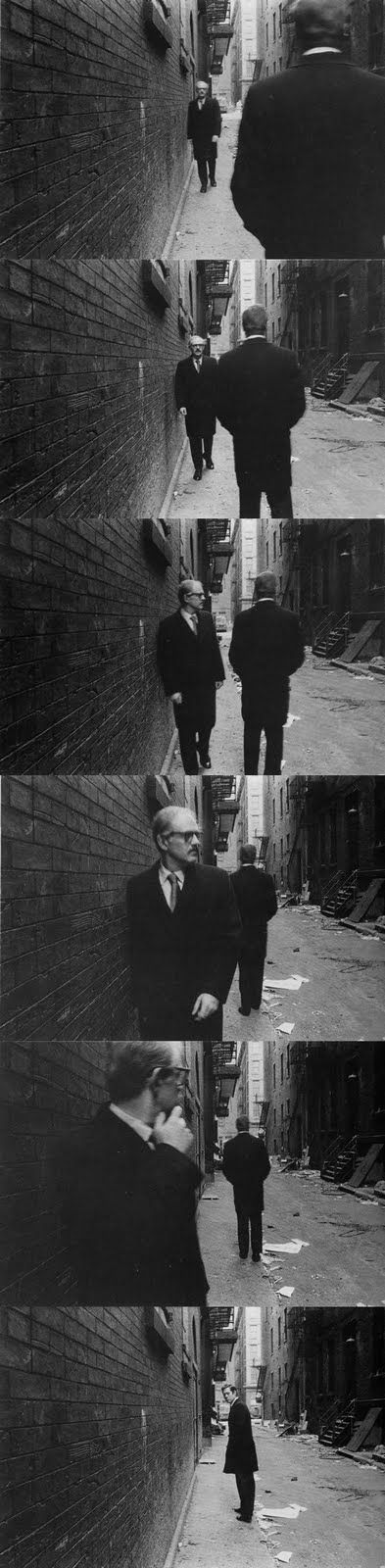 Duane Michals #sequence #photo (photograph the groom and best man exchanging the ring like a top secret message)