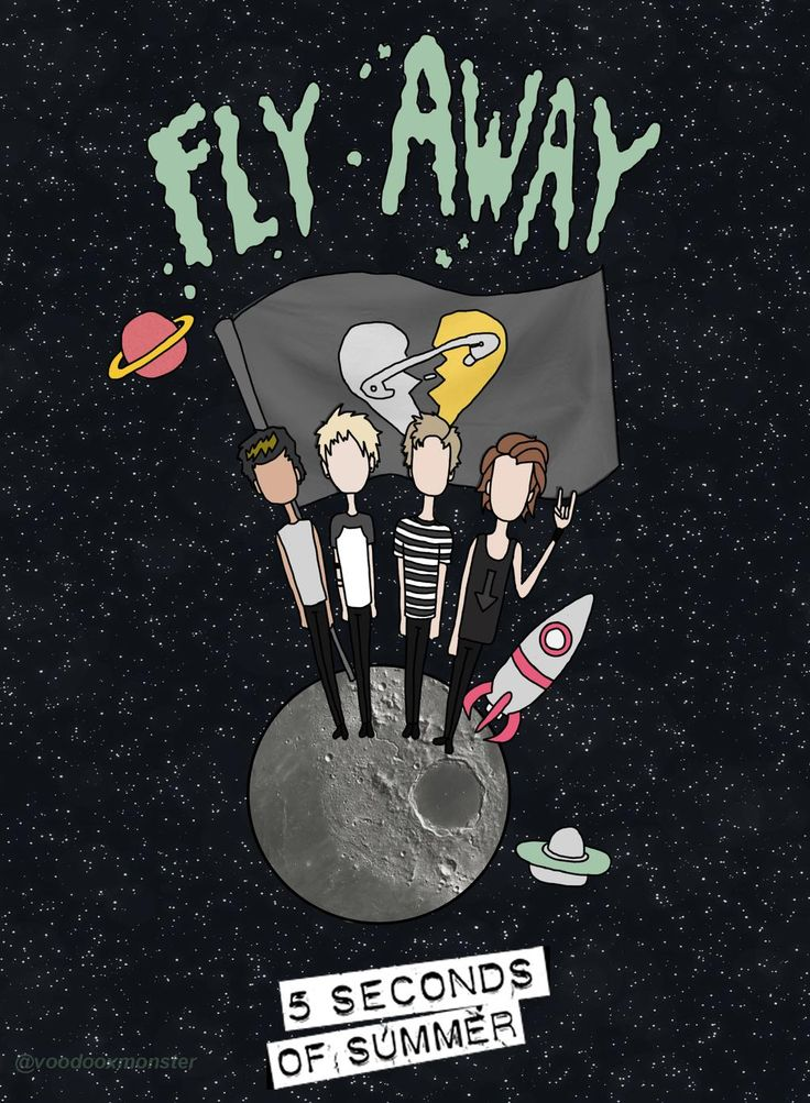 Space inspired 5 Seconds of Summer Fan Art By: @voodooxmonster #5SOS