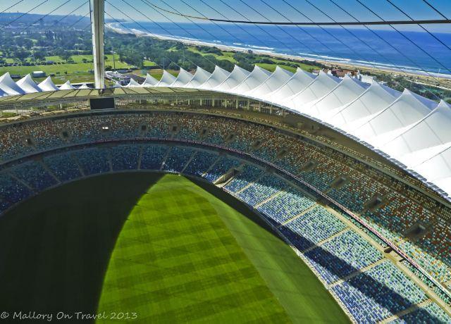 Wheeee! Bungee jumping Mabhida Stadium in Durban, South Africa.