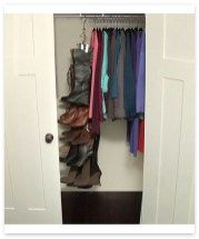 Ways to organize a small closet 14