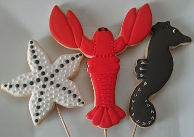Under the sea cookies. Almost too beautiful to eat!
