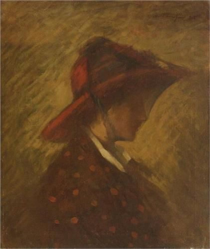 Lady with veil - Nicolae Tonitza, Impressionism