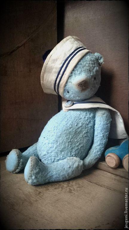 Купить KLEINER JUNGE - голубой, морской стиль, винтаж, винтажный стиль, коллекционная игрушка
