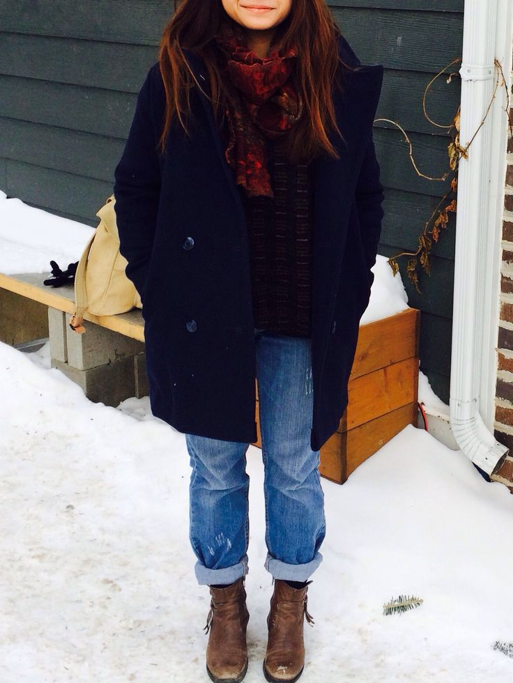 IN THA (PEACOAT) HOOD // thrifted and reconstructed London Fog peacoat