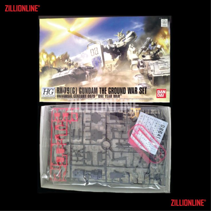 [MODEL-KIT] HGUC HARDGRAPH 1/144 - RX-79[G] GUNDAM THE GROUND WAR SET. Item Size/Weight : 31 x 20.7 x 9.5 cm / 463 g. (*ITEM SIZE & WEIGHT BEFORE PACKAGED). Condition: MINT / NEW & SEALED RUNNER. Made by BANDAI.