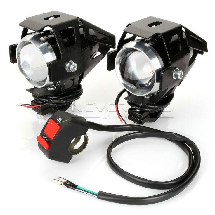 2 PCS Motorcycle LED Headlight 125 W 3000LM U5 Tahan Air Mengemudi Spot Kepala Lampu Kabut Lampu Moto Aksesoris 12 V 6000 K D25