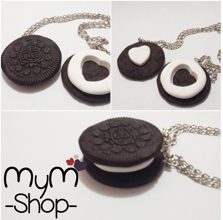 collar galleta oreo para pareja amor amistad cute kawaii