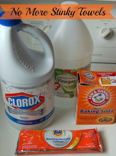 Oplossing voor stinkende handdoeken