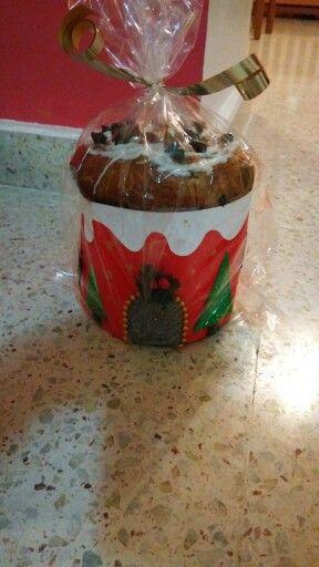 Pan dulce navideño decorado