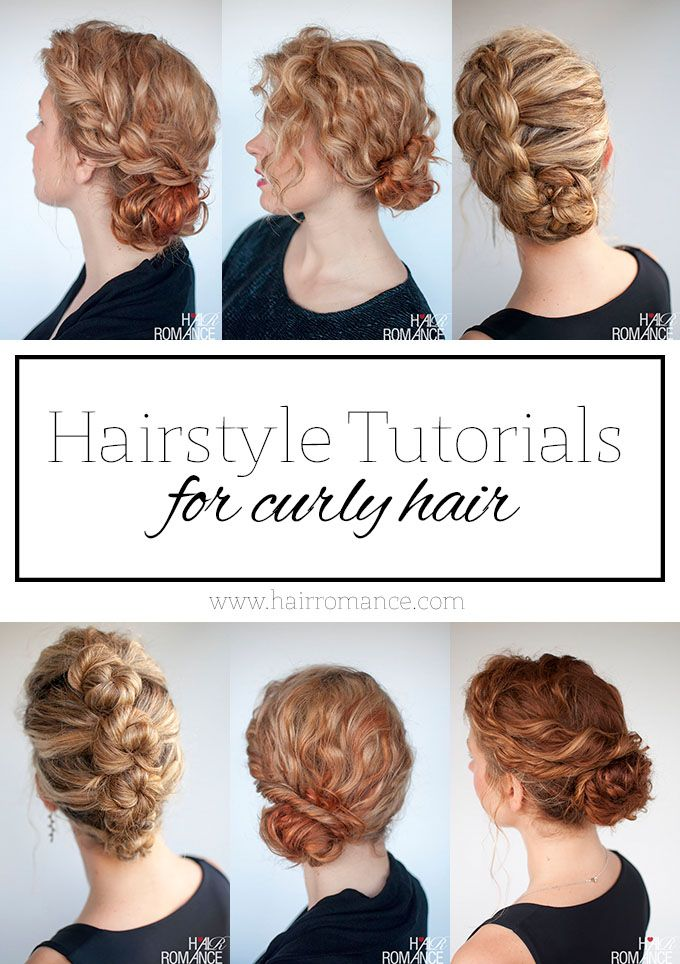The best curly hairstyle tutorials for frizzy hair - *Link to curly hair page: http://www.hairromance.com/category/curly-hair