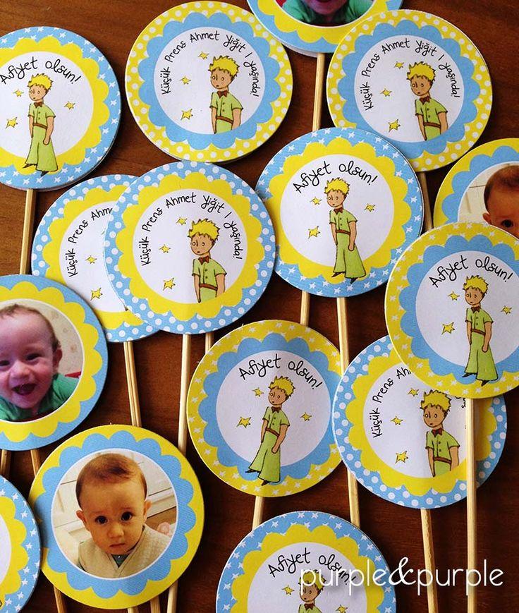 Le Petit Temalı Parti Kürdanları | Küçük Prens | Doğum Günü Süslemeleri | Süslü Kürdanlar | 1 yaş doğum günü hediyelikleri | 1 yaş parti süsleri | Küçük Prens (Le Petit Prince) temalı Parti | Le Petit Prince Birthday | Book Themed Parties | Le Petit Prince Themed Party | Party Labels
