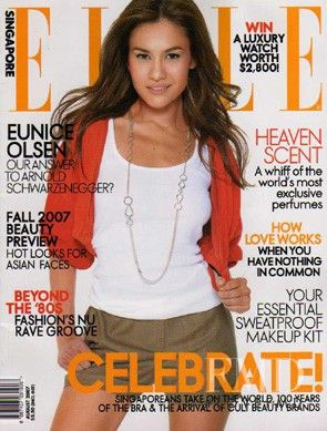 Covers of Elle Singapore with Eunice Olsen, 958 2007 | Magazines | The FMD #lovefmd