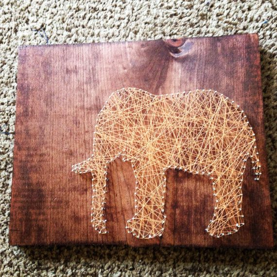 Elephant String Art- Oh my goodness, I am in absolute love with this! It opens up so many possibilities
