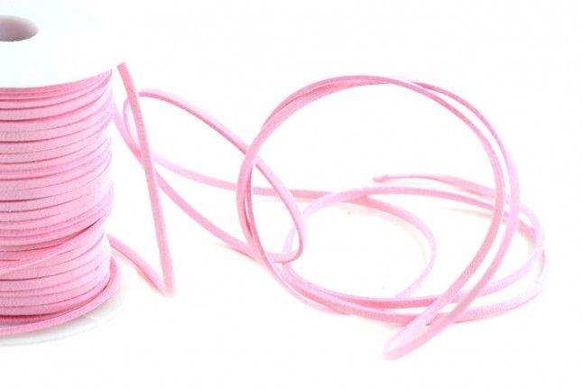 Lacci in pelle - Cordoncino in Pelle Rosa mm.3 mt.10 - un prodotto unico di raffasupplies su DaWanda