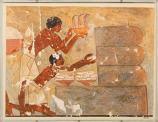 Gathering Honey, Tomb of Rekhmire  Nina de Garis Davies  (1881–1965)  Period: New Kingdom Dynasty: Dynasty 18 Reign: reign of Thutmose III–early Amenhotep II Date: ca. 1479–1425 B.C. Geography: Egypt, Upper Egypt
