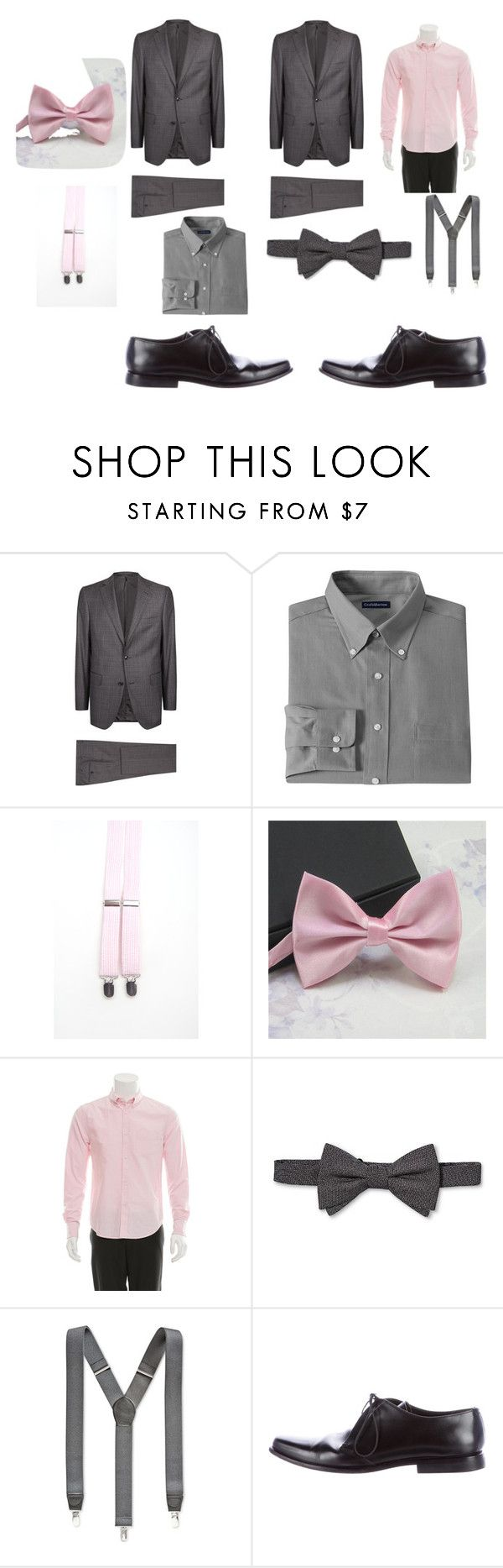 """""""Chambelanes for XV"""" by danielabeauty on Polyvore featuring Pal Zileri, Croft & Barrow, Band of Outsiders, City of London, Club Room and Prada"""