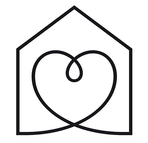 Habitat for Humanity- Houses and love!! I like the house and the heart. simple line drawing