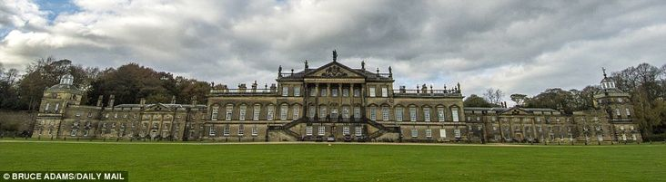 Grand design: With five miles of corridors, Wentworth Woodhouse in South Yorkshire is Europe's largest private residence.