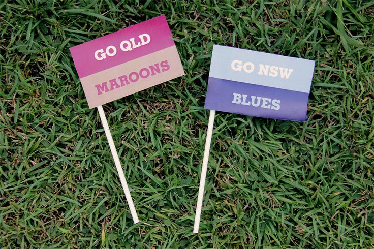 State of Origin Maroons and Blues Team Flags | Creative Sense Co