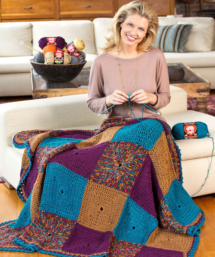 Knitting Work From Home : Do it in squares throw crochet great for when you want