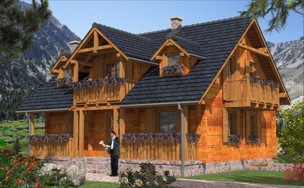 115 m² ekologicznego domu z bali! 3 poziomy, garaż i funkcjonalne wnętrza. Zobacz więcej :)