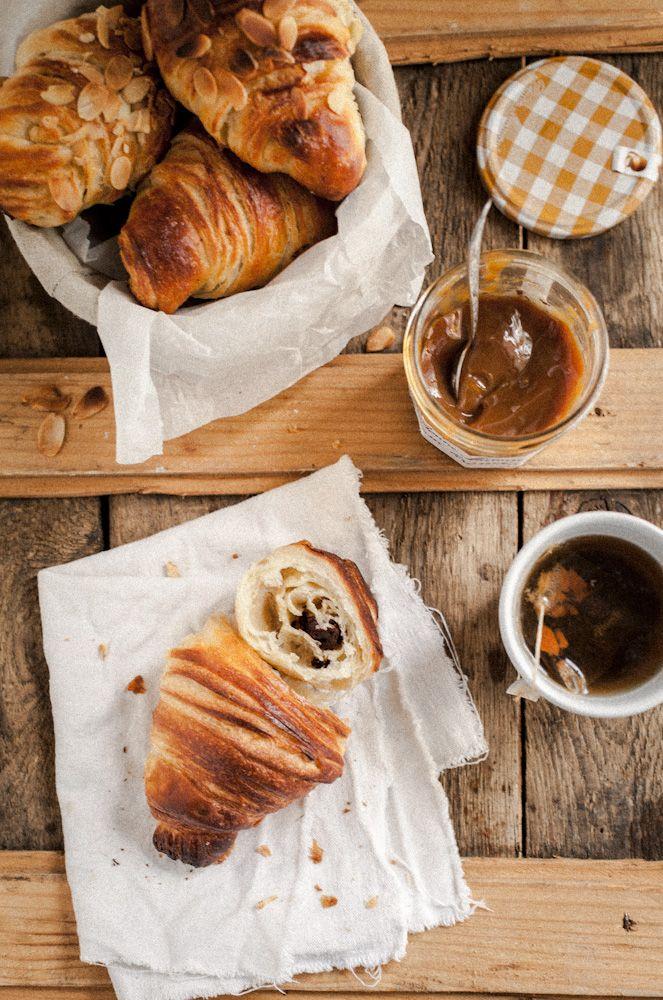 Croissants with sourdough | by gotujebolbi  #fresh #baked #breakfast #croissants