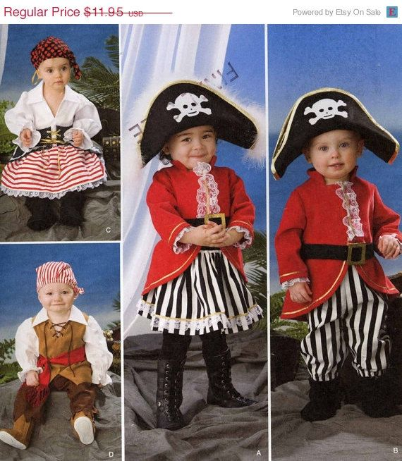 Unisex Childrens Pirate Costumes Sz 14 by Altcollect on Etsy, $10.76