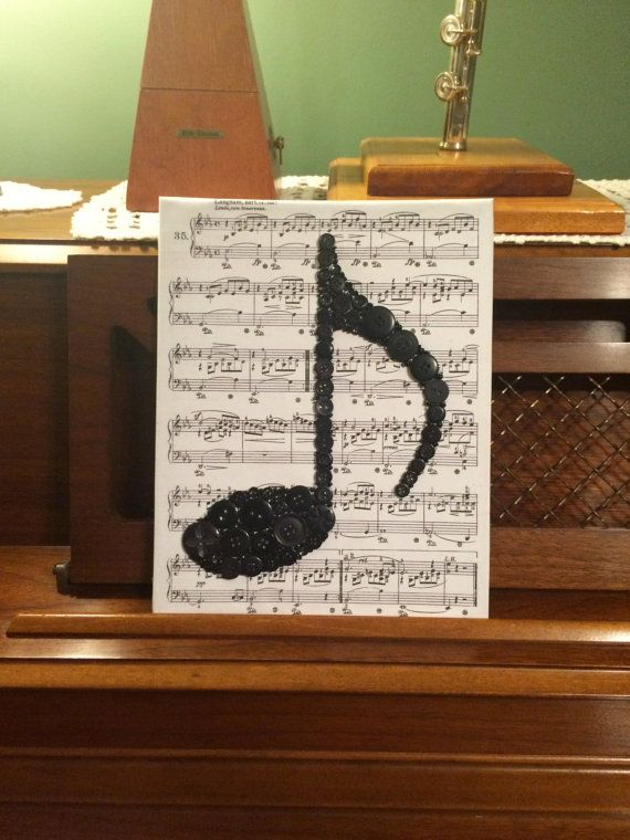 This Eighth Note Button Art Piece Is The Perfect Unique