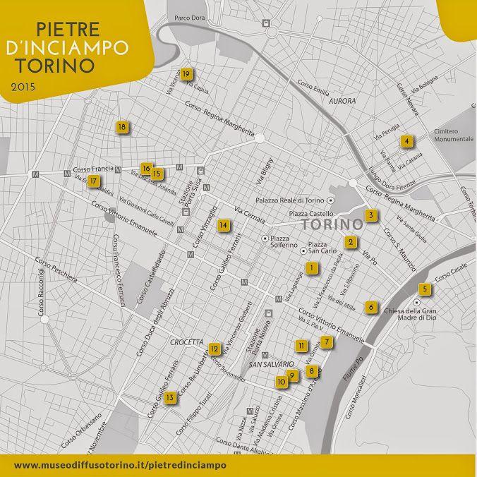 La mappa delle Pietre di inciampo a Torino