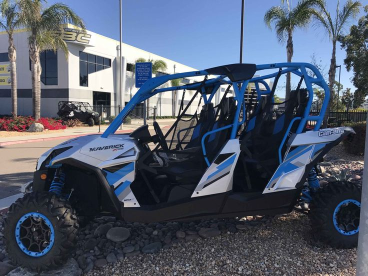 New 2017 Can-Am Maverick Max X Ds Turbo Demo ATVs For Sale in California. 2017 Can-Am Maverick Max X Ds Turbo Demo, Boosting the performance of the proven Rotax 1000R engine with the industry's first factory-installed turbocharger enables the Maverick MAX X ds TURBO to produce an impressive 131 HP. The electronically controled wastegate automatically adjusts boost pressure for optimal performance in any condition and even maintains full performance at altitudes up to 5,000-ft. Paired to the…