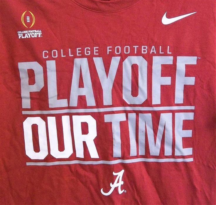 University Of Alabama Nike College Football Playoff Our Time T-Shirt L Large  #Nike #AlabamaCrimsonTide