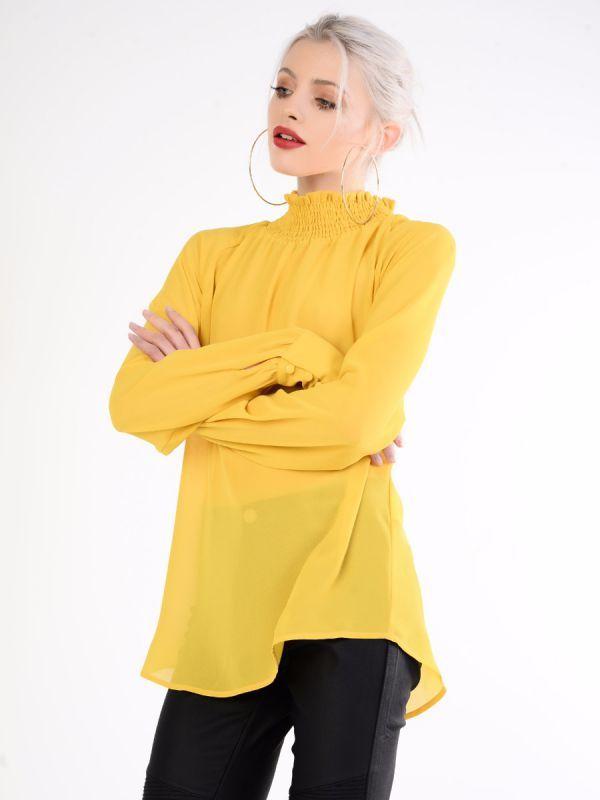 Yellow Sheer Blouse