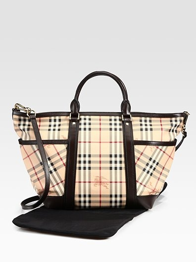 Burberry June Haymarket Check Diaper Bag | burberry bag on sale