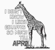 Didn't Know I Liked Giraffes till April - Funny, Witty pun by nvdesign