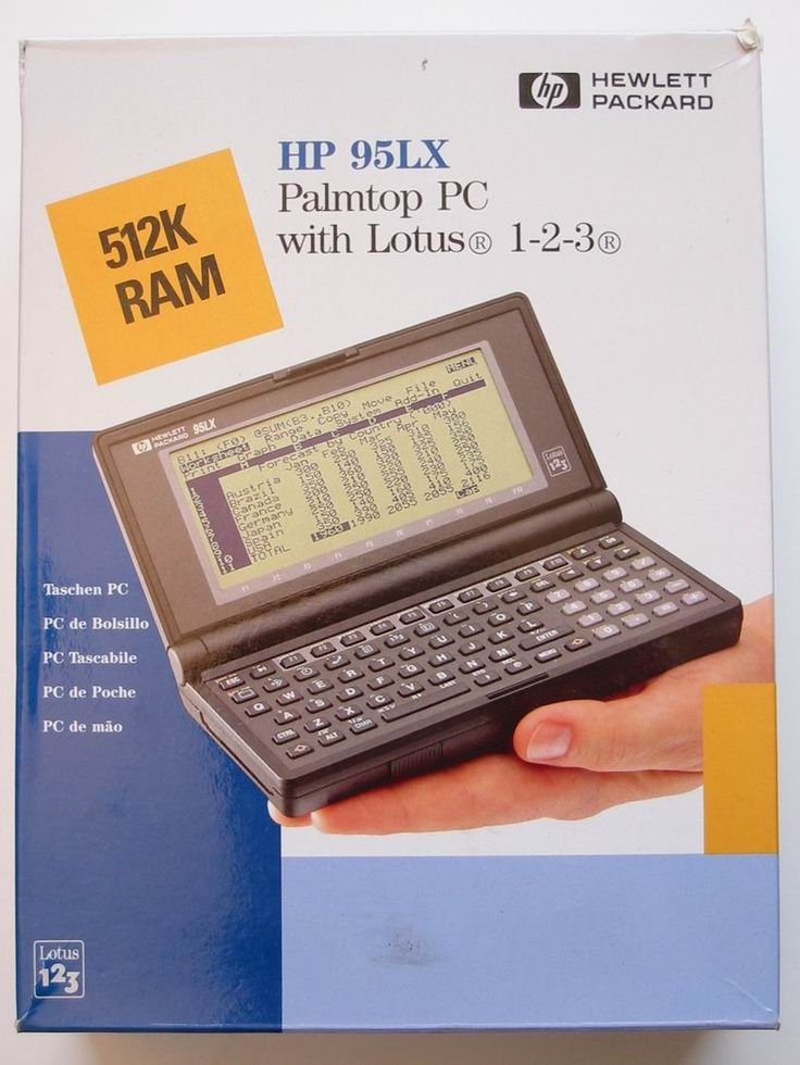 HP 95 LX Palmtop PC with Lotus 1-2-3 Office OS. Had one of these back in the day.
