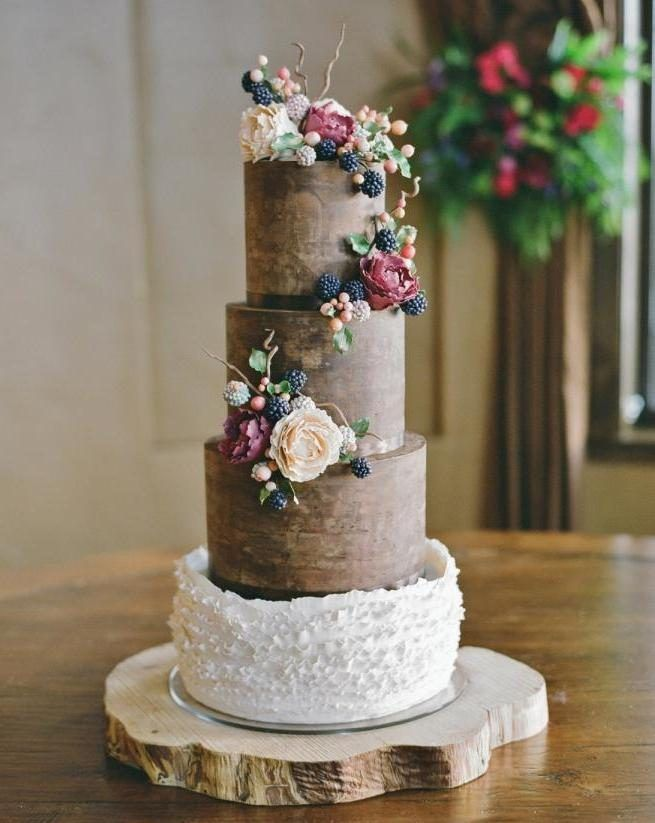 A rustic chic beauty by Sweet and Swanky Cakes https://www.facebook.com/SweetandSwankyCakes