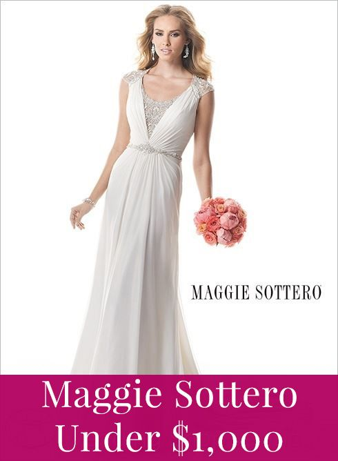 Affordable bridal gowns from Maggie Sottero! Prices under $1,000!