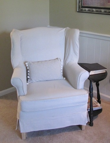 Simple Wing Chair How To. Drop Cloth SlipcoverChair SlipcoversWingback ...