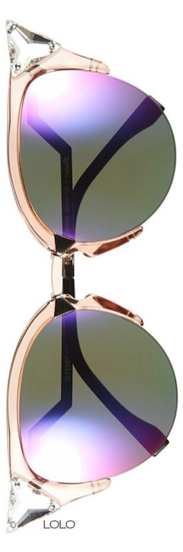 Fendi Crystal 52mm Tipped Cat Eye Sunglasses | LOLO