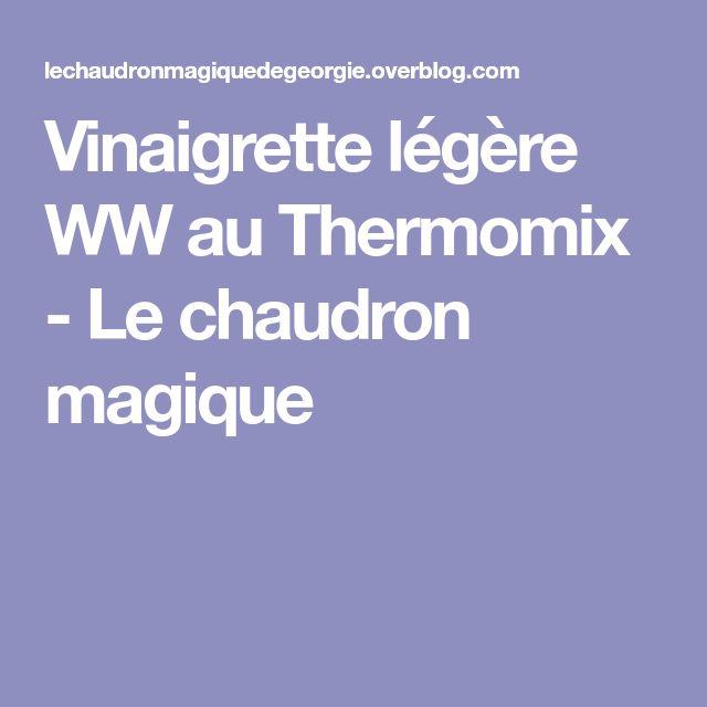 Vinaigrette légère WW au Thermomix - Le chaudron magique