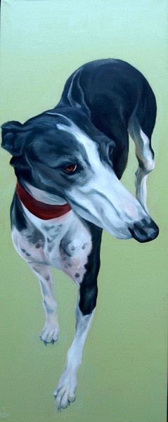 Dogs in Art at the StockBridge Gallery - 'Another Lady' Greyhound Study by Thuline de Cock, £645.00 (http://www.dogsinart.com/products/'Another-Lady'-Greyhound-Study-by-Thuline-de-Cock.html)