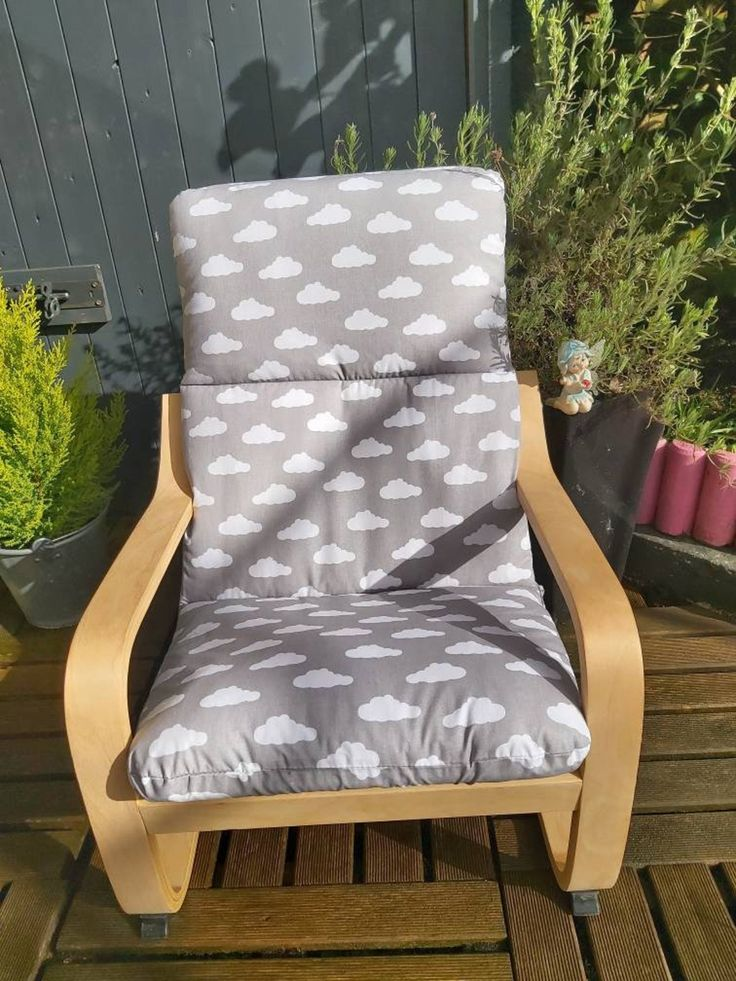 Ikea poang kids chair cover slipcover children's chair