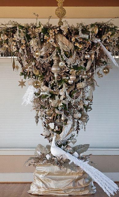 Upside down christmas trees th wedding anniversary