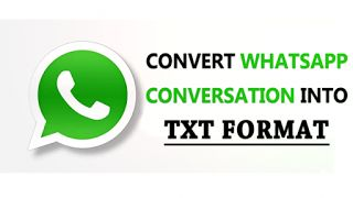 How To Take Backup Of Whatsapp Chats In .TXT Format?   When the chat backup of Whatsapp conversation is created it also takes a backup in TXT format too. So here is a simple trick that will help you to convert WhatsApp conversation into TXT format. WhatsApp is most popular mobile messaging service in the world. It recently achieved its milestone of having nearly 1 Billion users and there are lots of cool tricks and tips that you can try on this cool app and today here I'm back again came…
