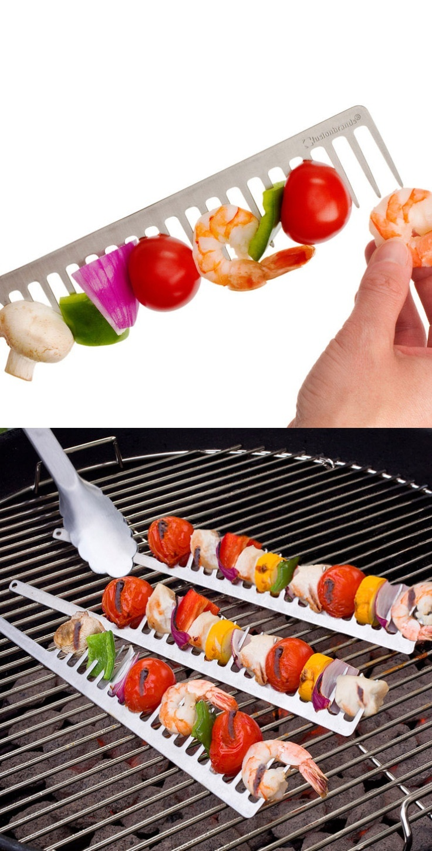 BBQ Kabob Comb - genius!
